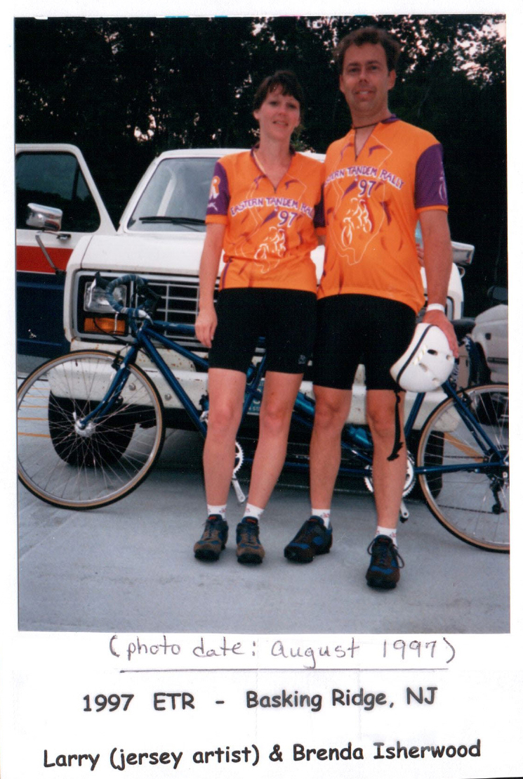 ETR 1997 Jersey modeled by Brenda and Larry Isherwood