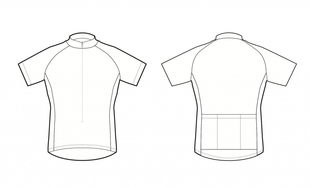 Jersey eastern tandem rally for Custom cycling jersey template
